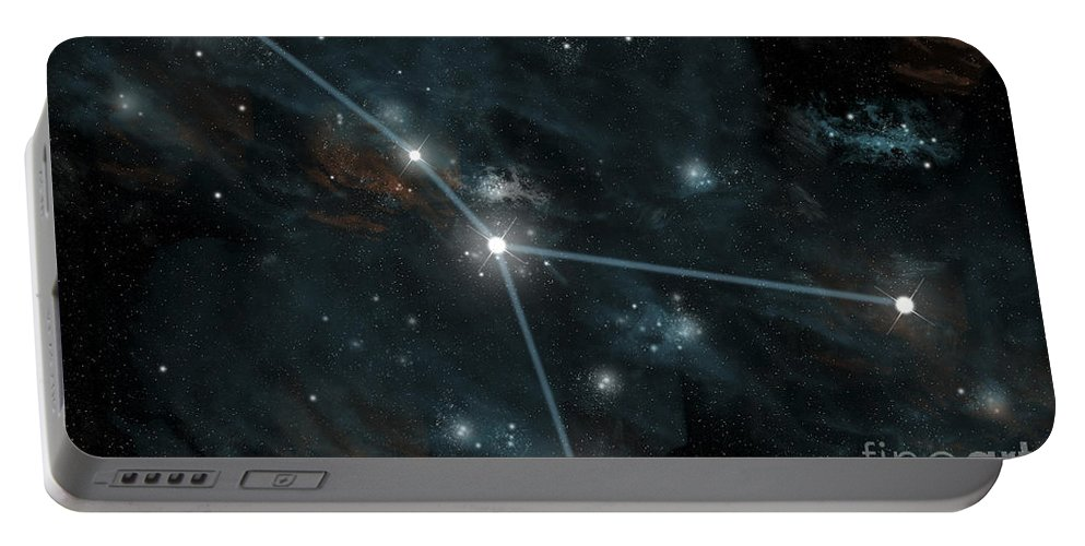 Astrology Portable Battery Charger featuring the digital art An Artists Depiction by Marc Ward