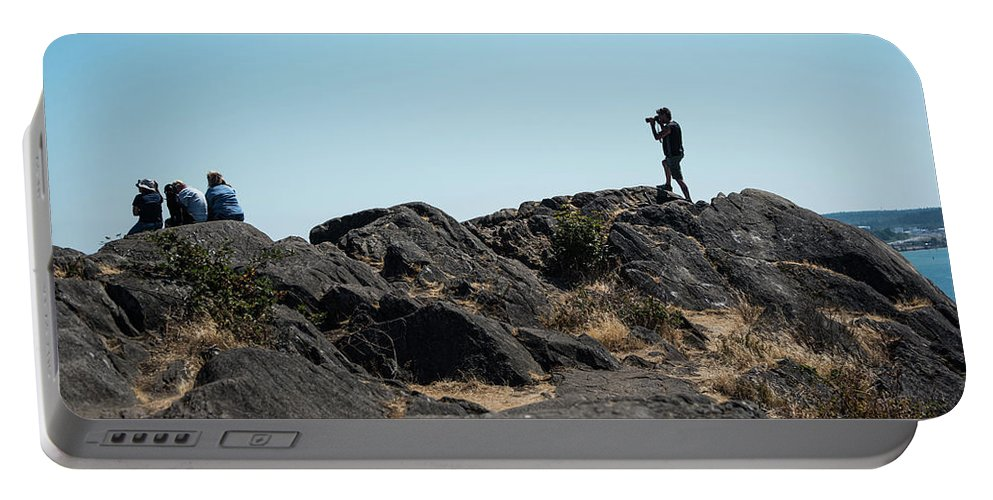 An Excellent Shot Portable Battery Charger featuring the photograph An Excellent Shot by Tom Cochran