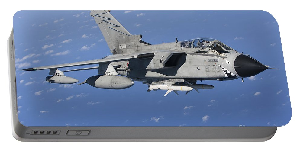 50 Stormo Portable Battery Charger featuring the photograph An Italian Air Force Tornado Ids Armed by Gert Kromhout