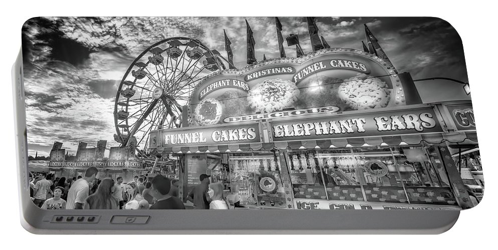 Carnival Portable Battery Charger featuring the photograph An Old Fashioned Carnival by Mark Andrew Thomas