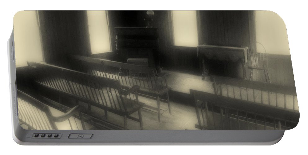Benches Portable Battery Charger featuring the photograph Ancestor Worship by RC DeWinter