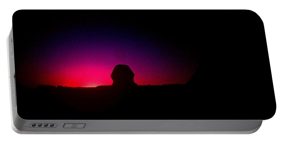 Sphinx Portable Battery Charger featuring the photograph Ancient Evenings by Gary Wonning