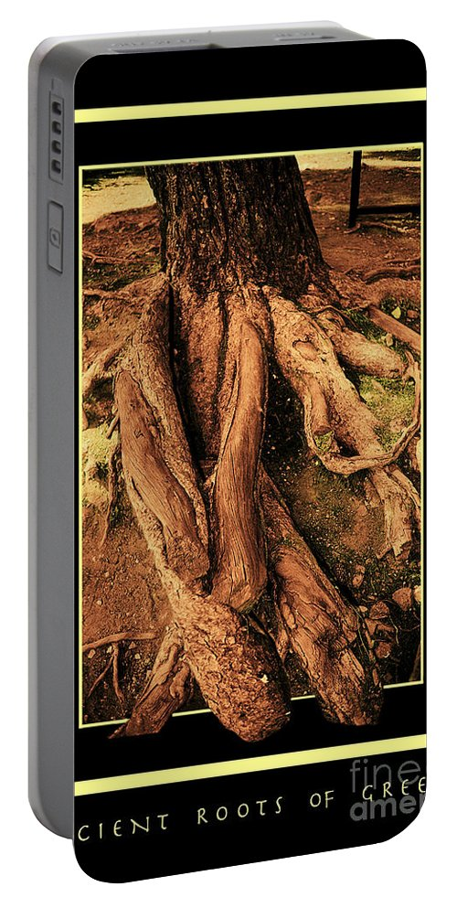 Greece Portable Battery Charger featuring the photograph Ancient Roots Of Greece by Madeline Ellis