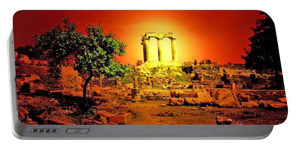 Greece Portable Battery Charger featuring the photograph Ancient Ruins by Madeline Ellis