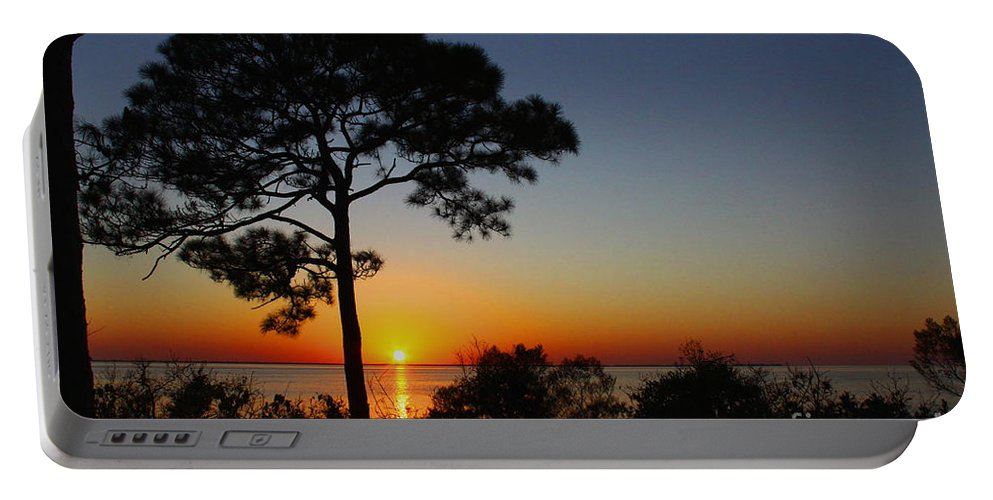 Sunset Portable Battery Charger featuring the photograph Anclote Gulf Sunset by Barbara Bowen