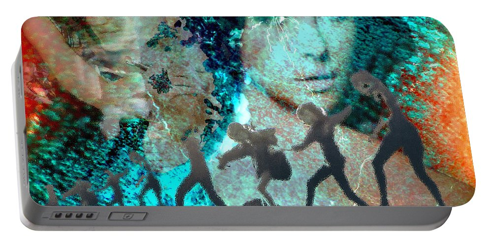 Childhood Portable Battery Charger featuring the digital art And that Reminds Me by Seth Weaver
