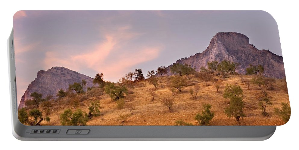 Andalucia Portable Battery Charger featuring the photograph Andalucian Landscape Near Zahara De La Sierra Spain by Mal Bray