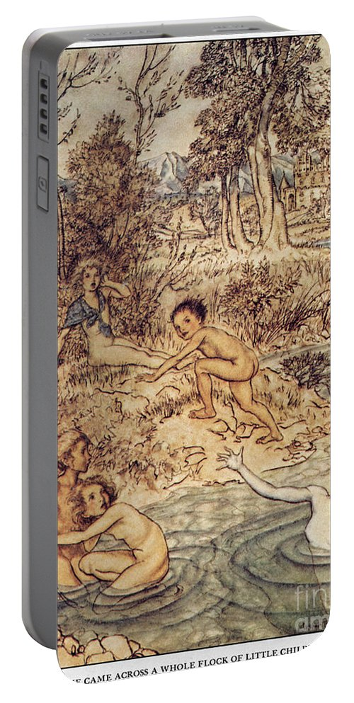 19th Century Portable Battery Charger featuring the painting Andersen: Little Mermaid by Granger