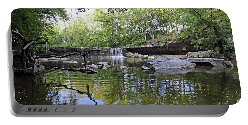Anderson Portable Battery Charger featuring the photograph Anderson Falls, Indiana by Steve Gass