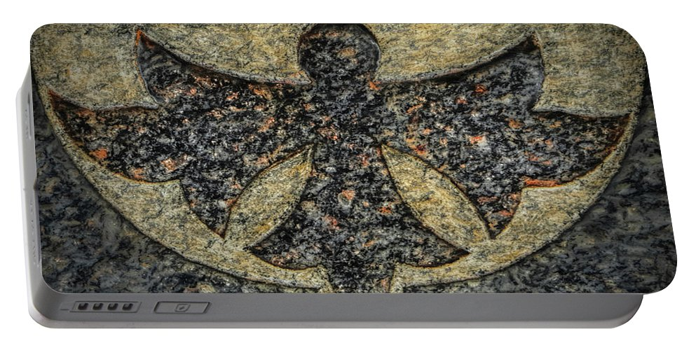 Cemeteries Portable Battery Charger featuring the photograph Angel In Stone by Thomas Fields