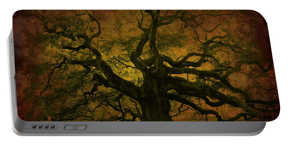 Angel Oak Portable Battery Charger featuring the photograph Angel Oak 3 Charleston by Susanne Van Hulst