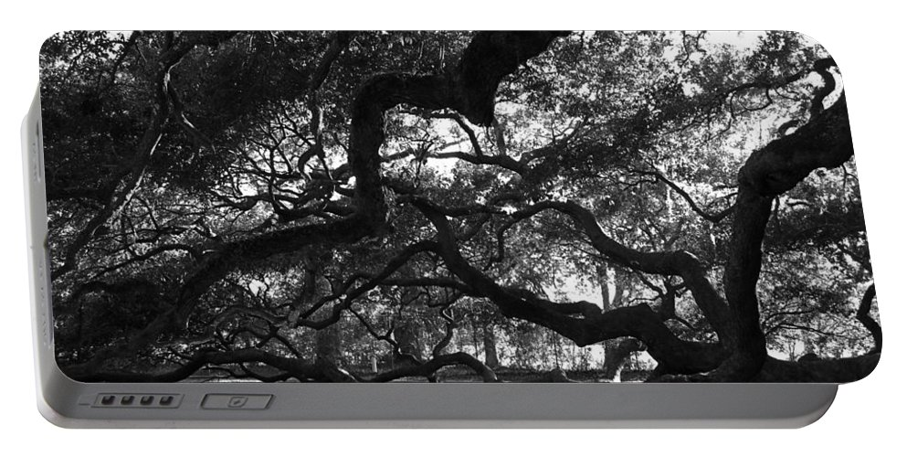 Angel Oak Portable Battery Charger featuring the photograph Angel Oak Limbs Bw by Susanne Van Hulst