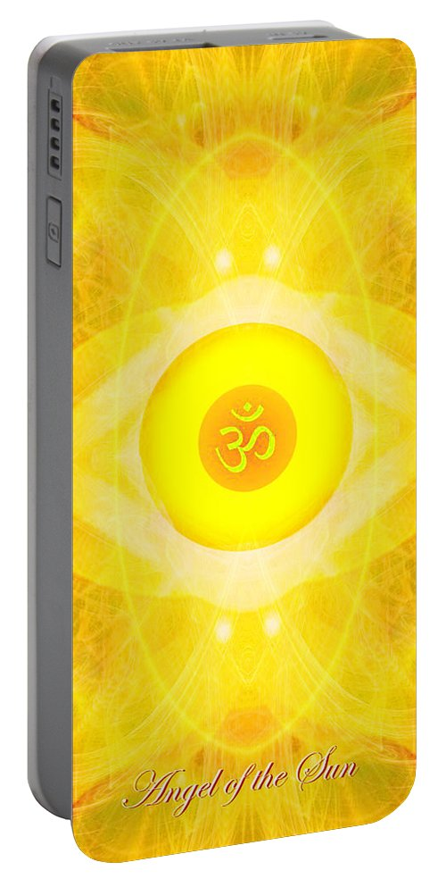 Angel Portable Battery Charger featuring the digital art Angel Of The Sun by Diana Haronis