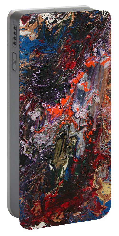 Fusionart Portable Battery Charger featuring the painting Angel Rising by Ralph White