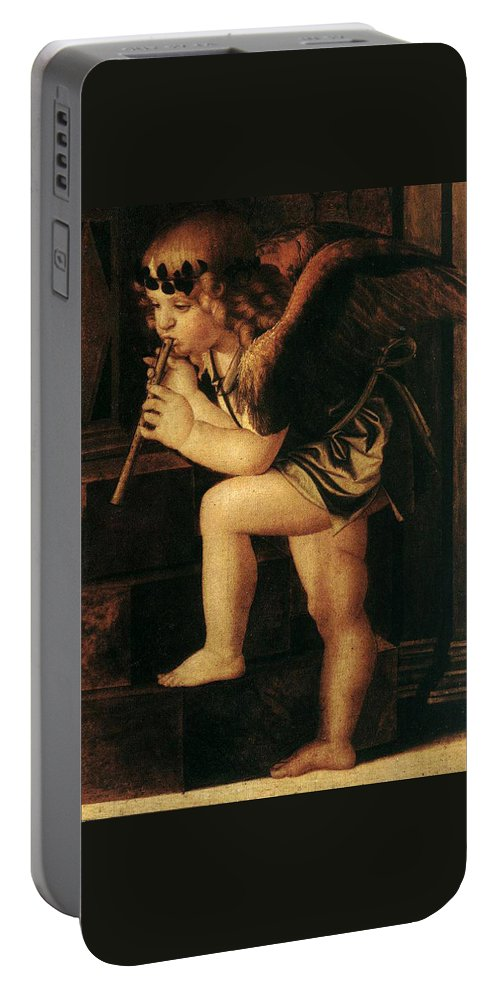 Angel Portable Battery Charger featuring the painting Angel2 by Munir Alawi