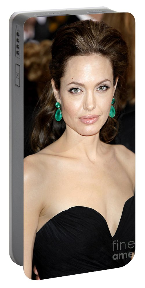 Angelina Jolie Portable Battery Charger featuring the photograph Angelina Jolie by Nina Prommer