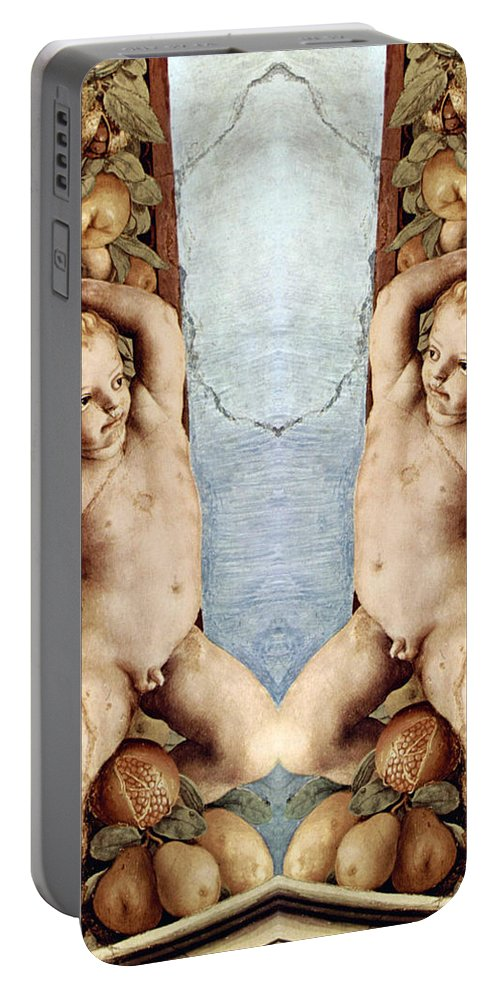 Angel Portable Battery Charger featuring the photograph Angels And Pears by Munir Alawi