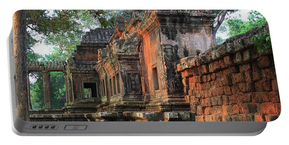 Siem Reap Portable Battery Charger featuring the photograph Angkor Wat Ruins - Siem Reap, Cambodia by Jon Cotroneo