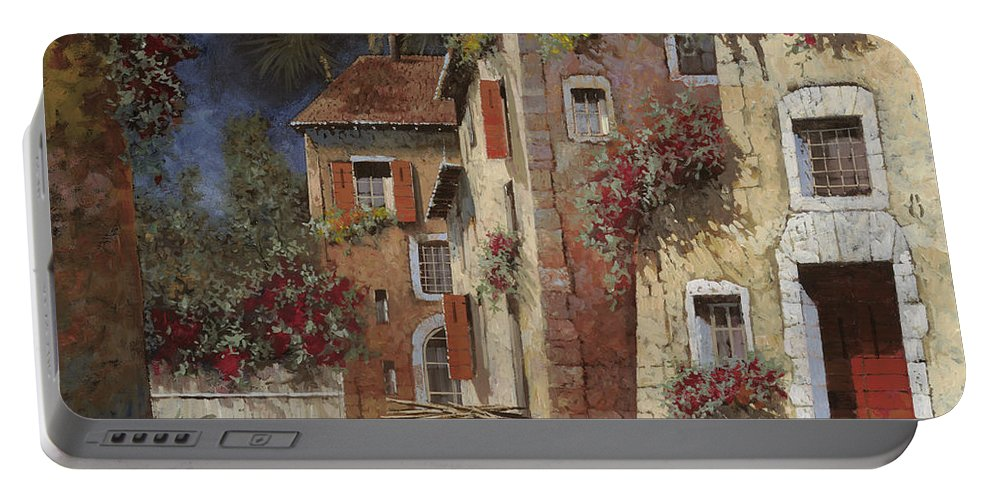 Night Portable Battery Charger featuring the painting Angolo Buio by Guido Borelli