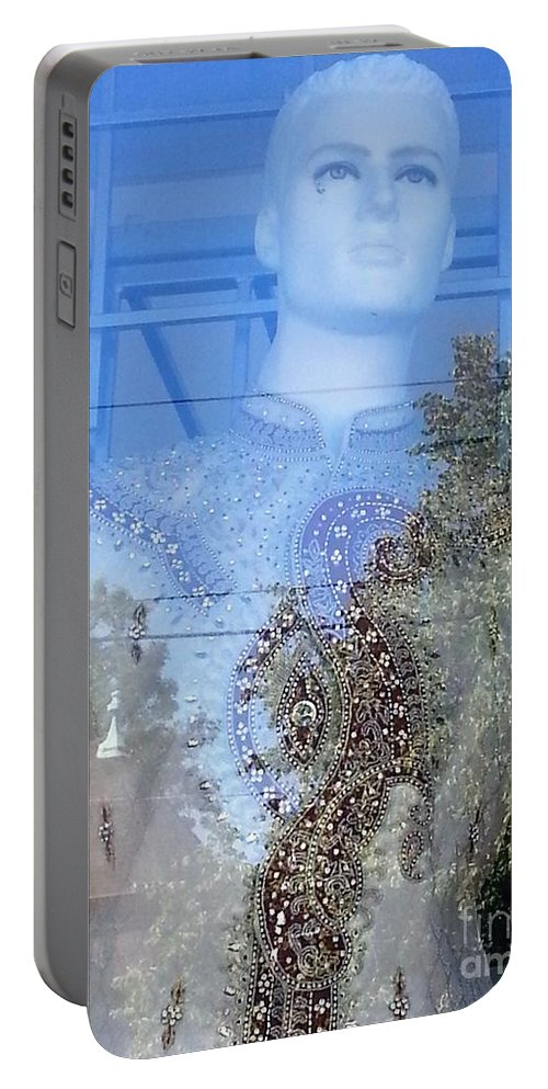 Mannequin Portable Battery Charger featuring the photograph Anil by Manuel Matas