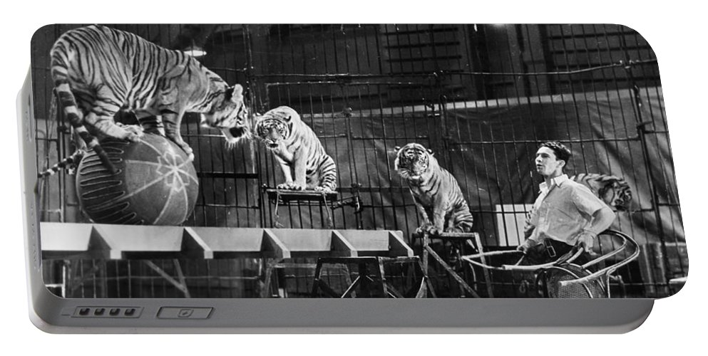 1930 Portable Battery Charger featuring the photograph Animal Tamer, 1930s by Granger