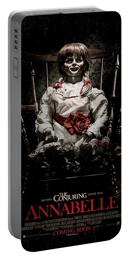 Annabelle 2014 Portable Battery Charger featuring the digital art Annabelle 2014 by Geek N Rock