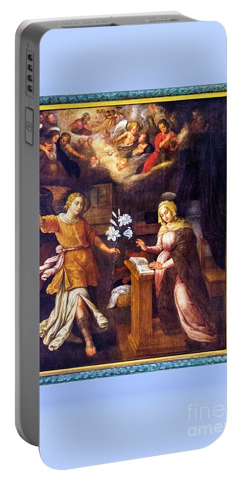 Annunciation Portable Battery Charger featuring the photograph Annunciation by Roberta Bragan