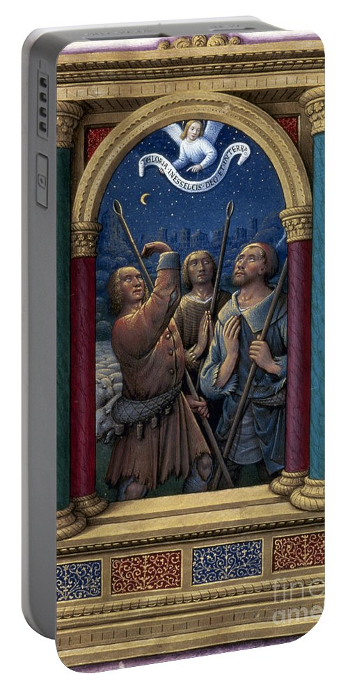 1510 Portable Battery Charger featuring the photograph Annunciation To Shepherds by Granger