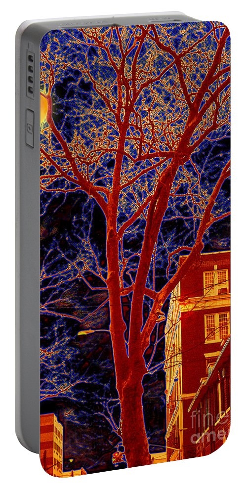 Brooklyn Portable Battery Charger featuring the photograph Another Brooklyn Night by Madeline Ellis