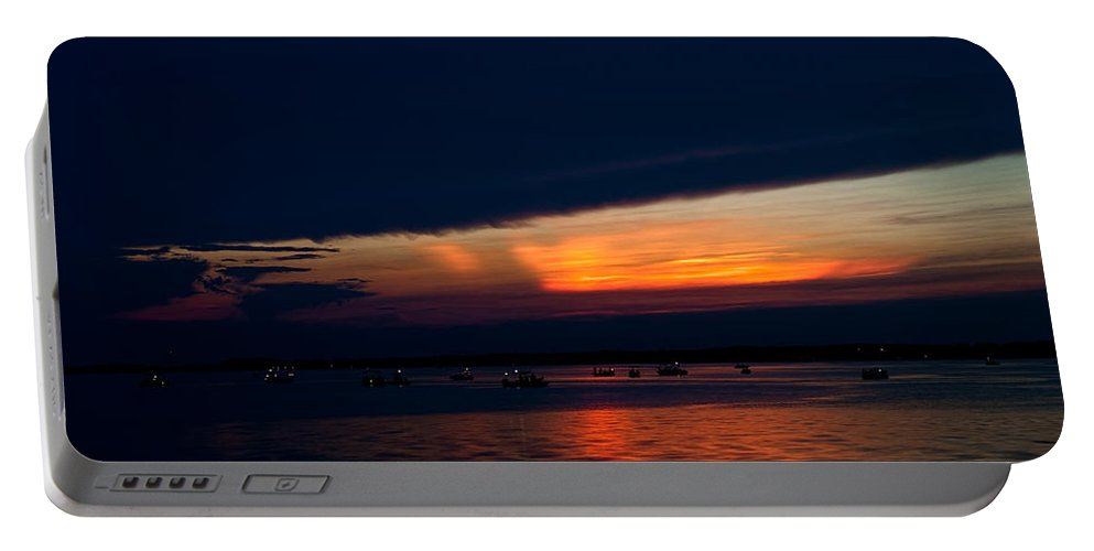 Sunset Portable Battery Charger featuring the photograph Another Day Down by Christopher Holmes