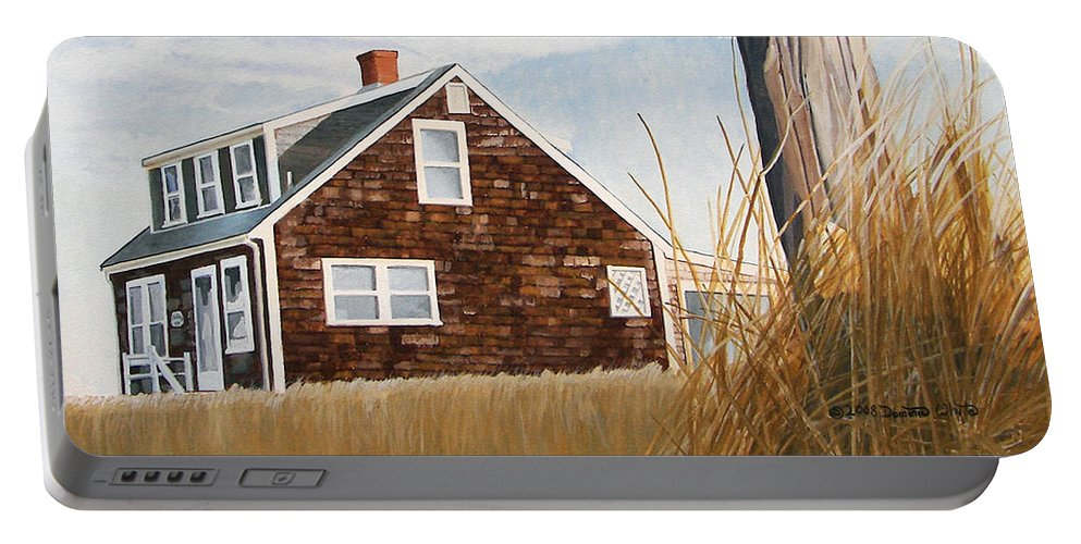 Landscape Portable Battery Charger featuring the painting Another New England Sunrise by Dominic White