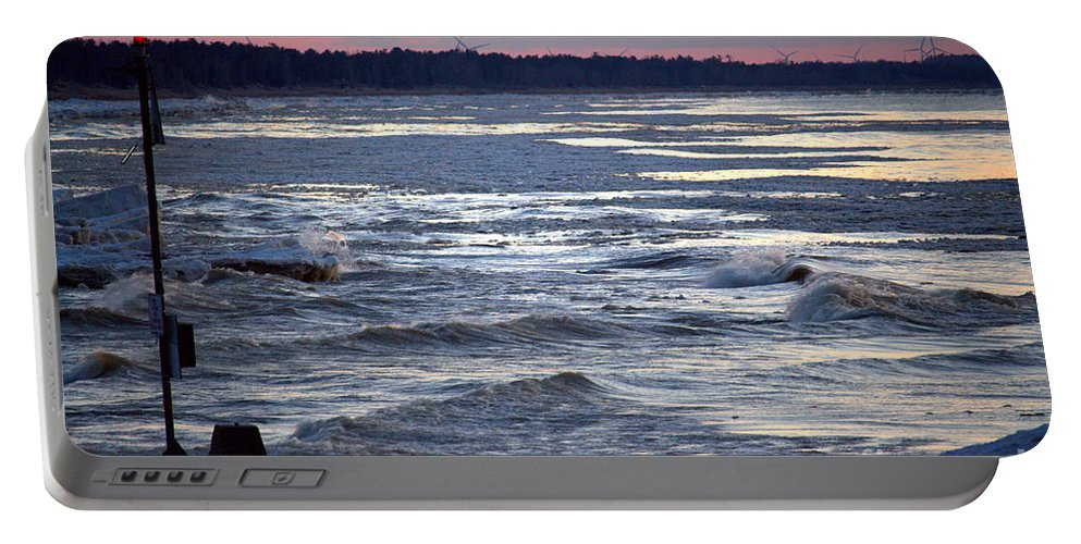 Grand Bend Portable Battery Charger featuring the photograph Another Night 2 by John Scatcherd