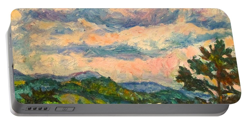 Landscape Paintings Portable Battery Charger featuring the painting Another Rocky Knob by Kendall Kessler