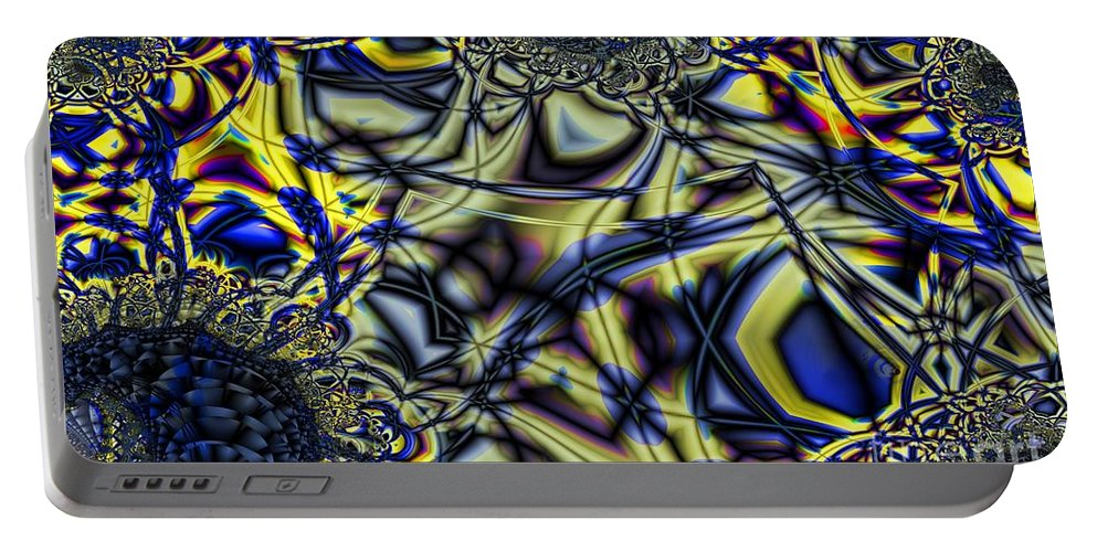 Coal Portable Battery Charger featuring the digital art Anthricite Pocket by Ron Bissett
