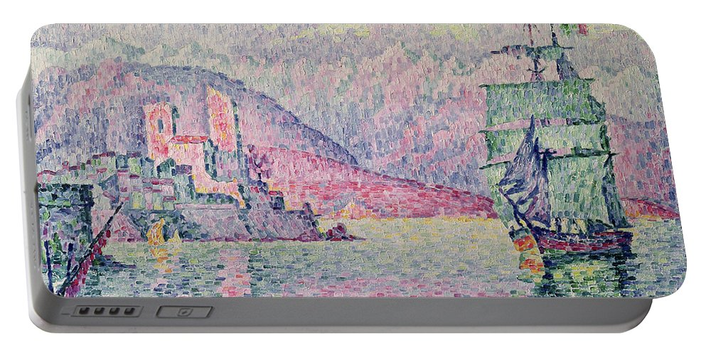 Antibes Portable Battery Charger featuring the painting Antibes by Paul Signac