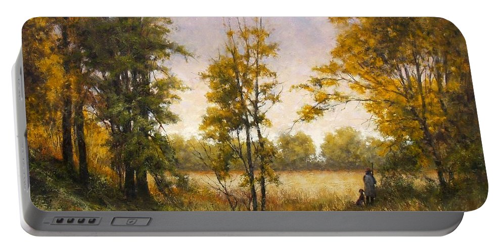 Artist Portable Battery Charger featuring the painting Anticipation by Jim Gola