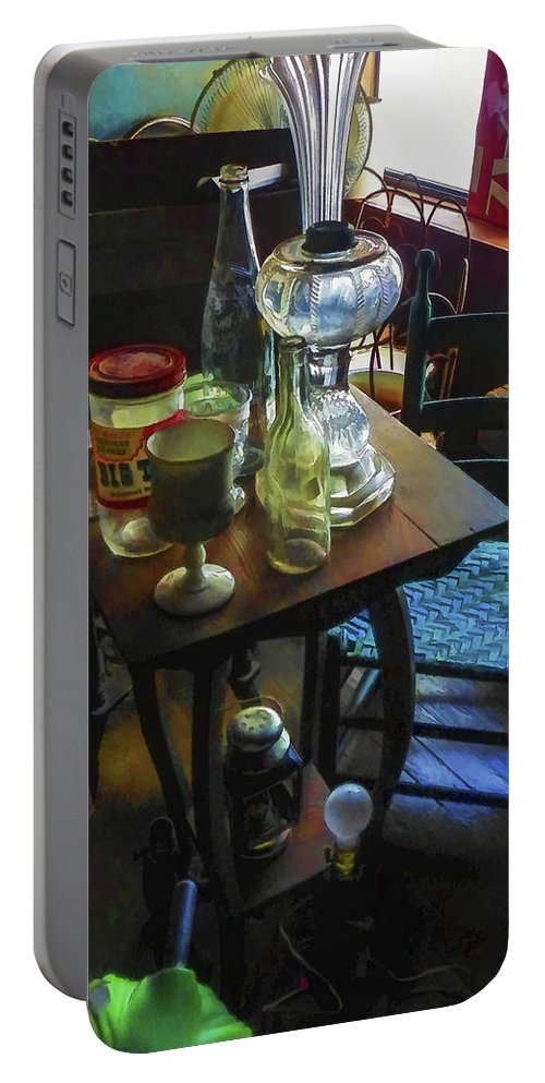 Vertical. Antique Portable Battery Charger featuring the digital art Antique Corner by Robert Meyerson