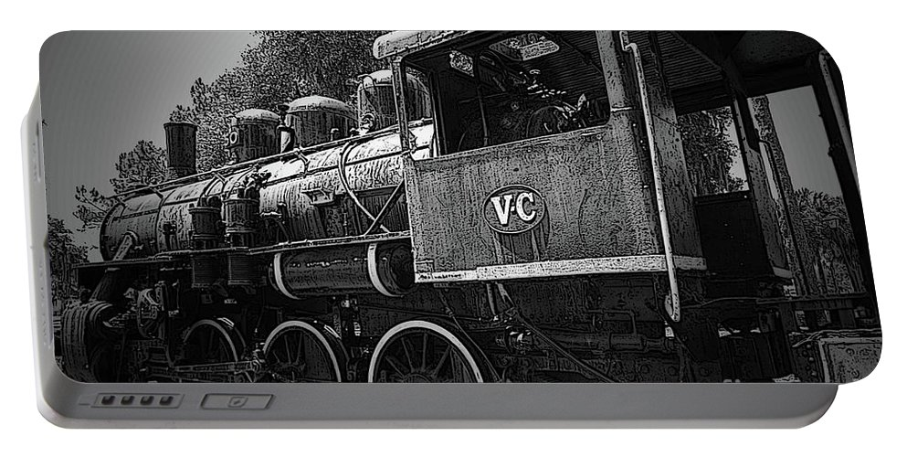 Locomotive Portable Battery Charger featuring the photograph Antique Loco by Jost Houk