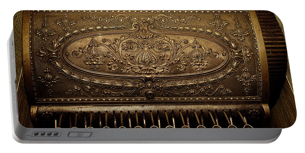 Cash Register Portable Battery Charger featuring the photograph Antique Ncr by Christopher Holmes