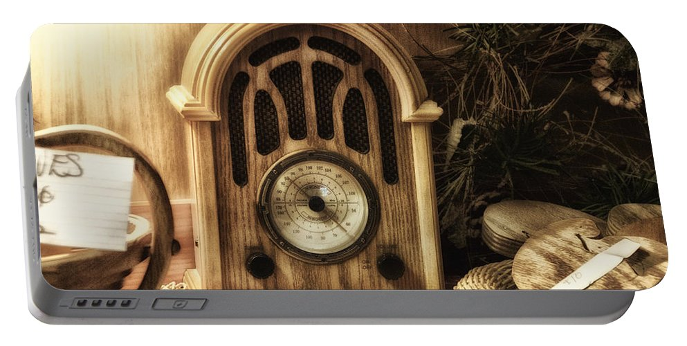 Oldish Portable Battery Charger featuring the photograph Antique Radio by Thomas Woolworth