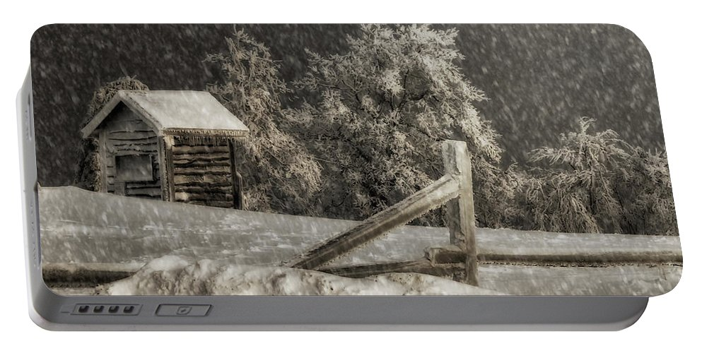 Shed Portable Battery Charger featuring the photograph Any Port In A Storm by Lois Bryan