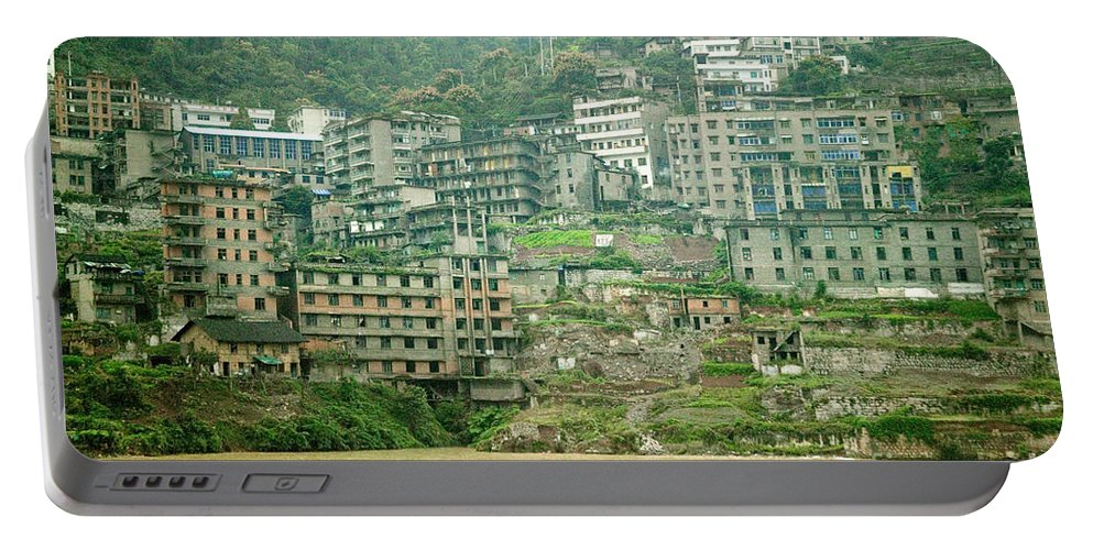 Yangtze Portable Battery Charger featuring the photograph Apartments, China by Inga Spence