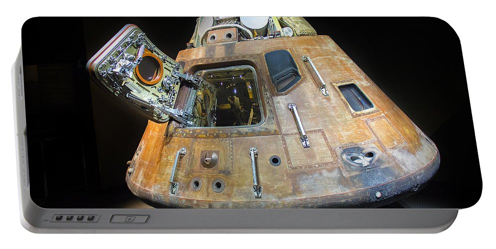 Apollo 14 Portable Battery Charger featuring the photograph Apollo 14 Command Module Kitty Hawk by Shawn McMillan