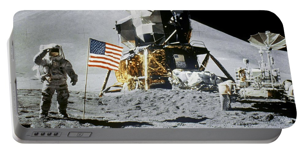1971 Portable Battery Charger featuring the photograph Apollo 15: Jim Irwin, 1971 by Granger