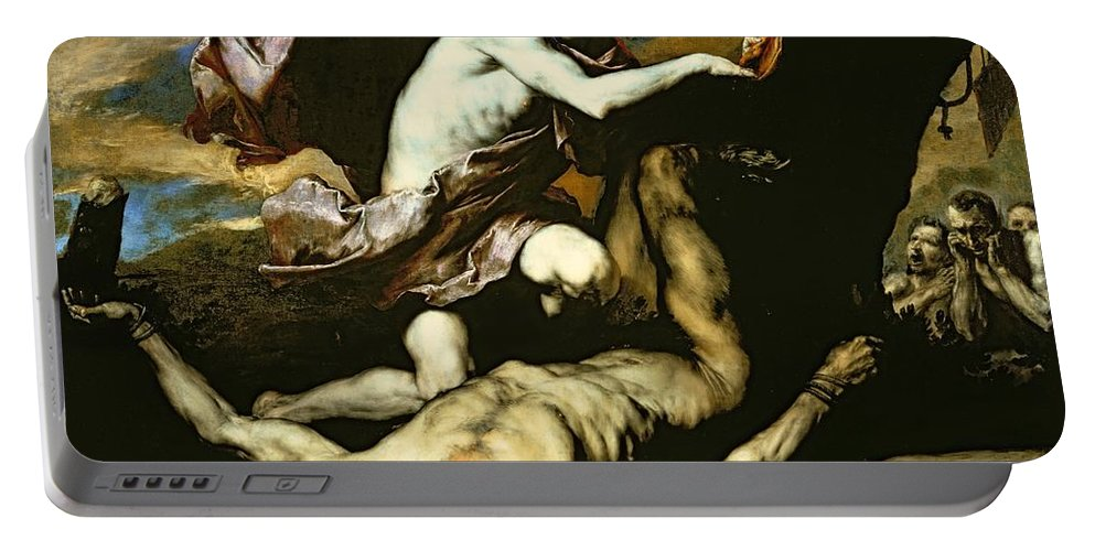 Apollo Portable Battery Charger featuring the painting Apollo And Marsyas by Jusepe de Ribera