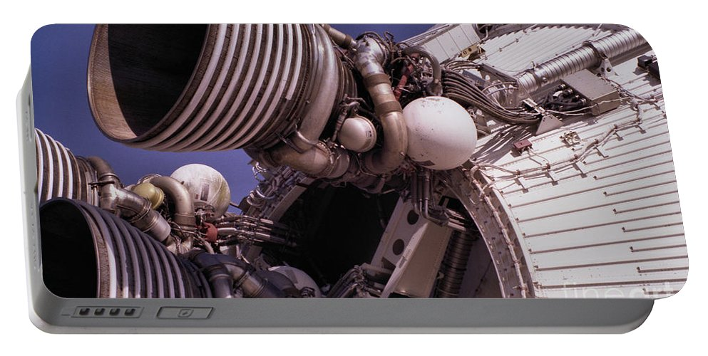 Technology Portable Battery Charger featuring the photograph Apollo Rocket Engine by Richard Rizzo