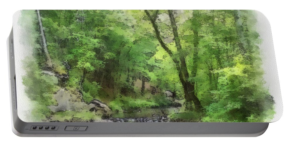Wright Portable Battery Charger featuring the photograph Appalachian Creek by Paulette B Wright
