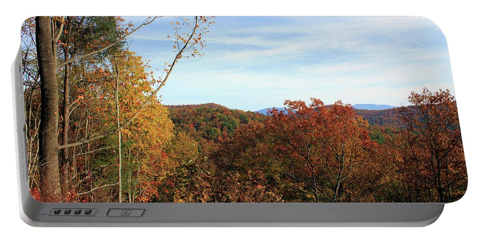 Appalachia Portable Battery Charger featuring the photograph Appalachian Fall by Kristin Elmquist