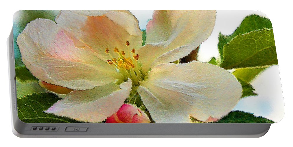 Apple Portable Battery Charger featuring the photograph Apple Blossom by Kristin Elmquist