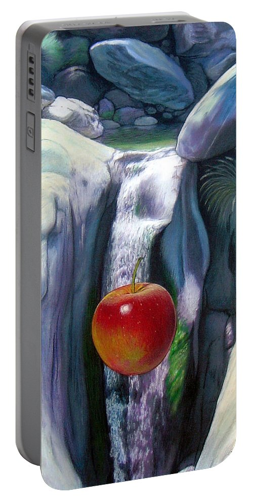 Apples Portable Battery Charger featuring the digital art Apple Falls by Snake Jagger